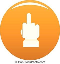 pomarańcza, wektor, ręka, cenzura, ikona