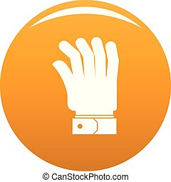pomarańcza, wektor, ręka, ikona