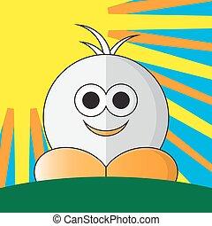 pomarańcza, zabawny, obuwie, figura