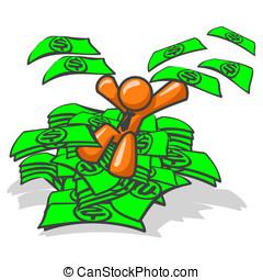 pomarańcza, zakładać, człowiek, pieniądze