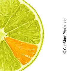 pomarańczowa kromka, cytryna
