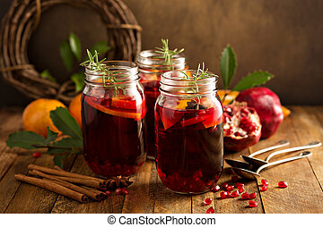 Pomegranate and orange winter cocktail - Pomegranate and...