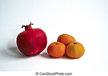 Pomegranate and Tangerines