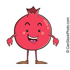 Pomegranate cartoon character