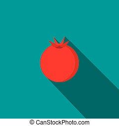 Pomegranate icon, flat style