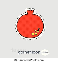 Pomegranate icon. Garnet fruit sign