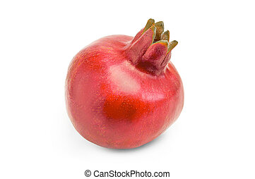 Pomegranate isolated on a white background