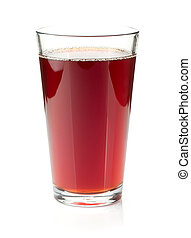 Pomegranate juice in a glass