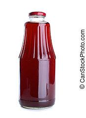 Pomegranate juice in the glass jar