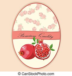 pomegranate or garnet Label. ideal label for fruit juice....