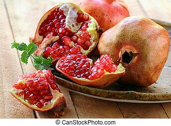 pomegranate ripe fruit