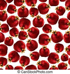 Pomegranate seamless pattern