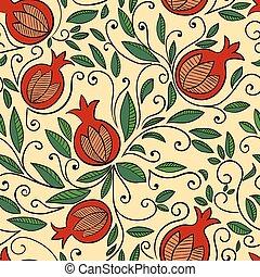 Pomegranate seamless pattern - Seamless pattern with...