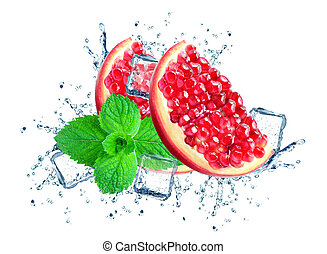 pomegranate splash water