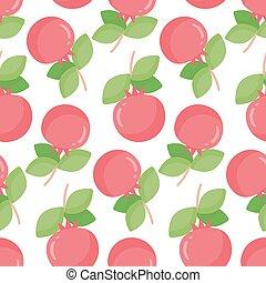 Pomegranate vector seamless pattern