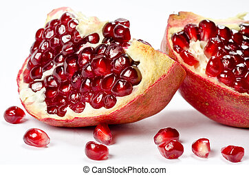 Pomegranate with grains