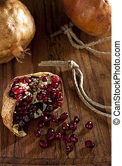 Pomegranate with Seeds and Rope