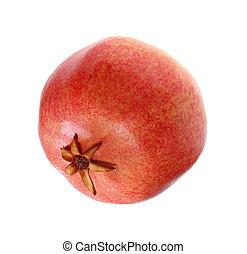pomegranates on a white background