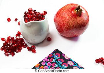pomegrante, 白い背景