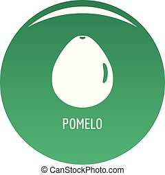 Pomelo icon vector green