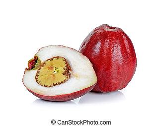 Pomerac, Malay apple, isolated on white background