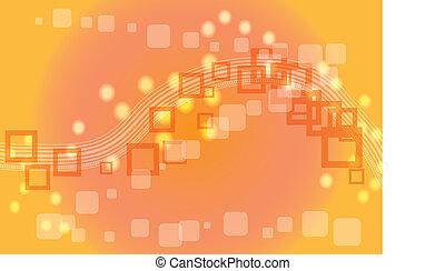 pomeranč, abstraktní, grafické pozadí, s, squ