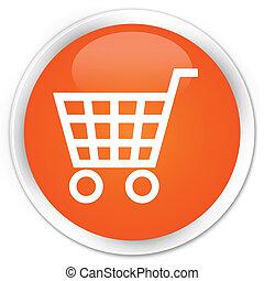 pomeranč, e- obchod, knoflík, ikona