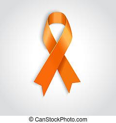 pomeranč, lem, oproti neposkvrněný, grafické pozadí.