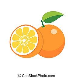 pomeranč, oproti neposkvrněný, grafické pozadí