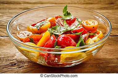 pomidor, świeży, zdrowy, sałata