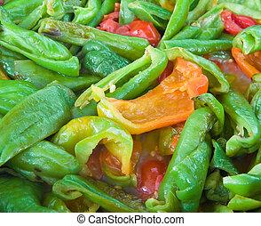 pomidor, pieprzy, sauce., do góry szczelnie