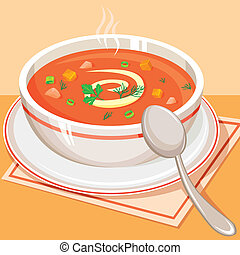 pomidor, roślinna zupa