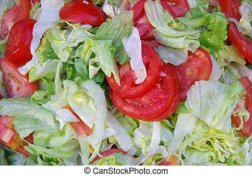 pomidor, sałata, sałata, pokrojony