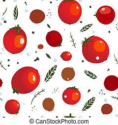 pomidor, w puszkach, rad, ostry, próbka, seamless