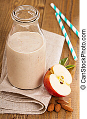 pomme, banane, cannelle, smoothie