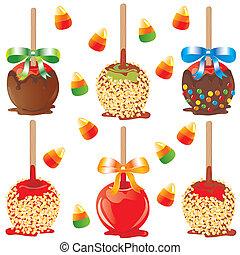 pomme, bonbon, traite