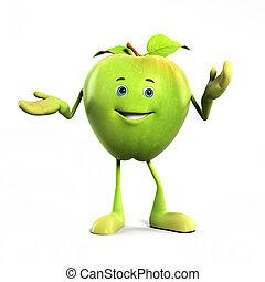 pomme, caractère