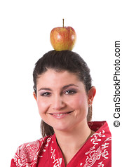 pomme, cible