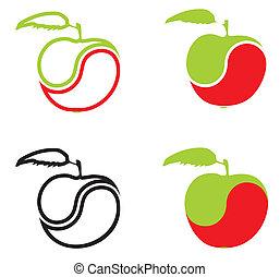 pomme, formulaire, icônes