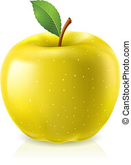 pomme, jaune