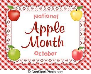 pomme, mois, napperon, endroit, dentelle, natte