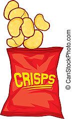 pommes chips, sac