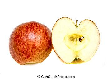 pommes, moitié