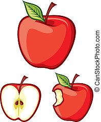 pommes, rouges