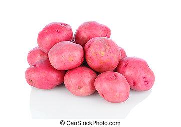 pommes terre, blanc rouge