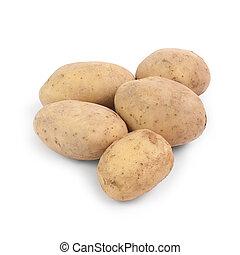 pommes terre, isolé