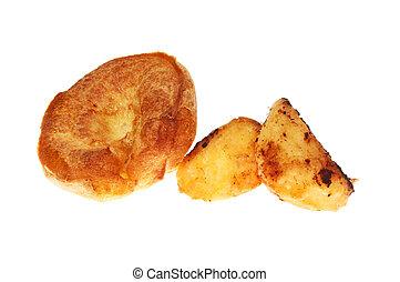 pommes terre, rôti, yorkshire