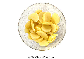 pommes terre, verre