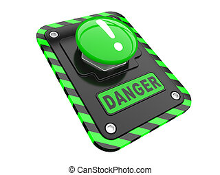 pomoc, niebezpieczeństwo, zielony, guzik