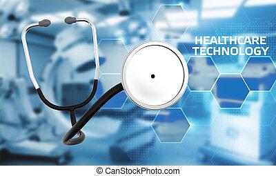 pomoc, patients., nowoczesny, healthcare, inteligencja, o, zdrowie, analiza, dane, diagnosis., medyczna technologia, sztuczny
